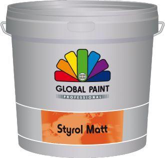 global paint styrol matt 25 liter lichte kleur