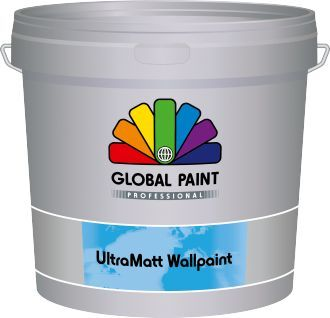 global paint ultramatt wallpaint 25 liter donkere kleur