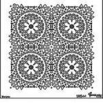 Marmorinotools Stencil 98544 30cmx30cm