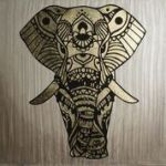 Marmorinotools Stencil 98553 60cmx60cm ELEFANTE