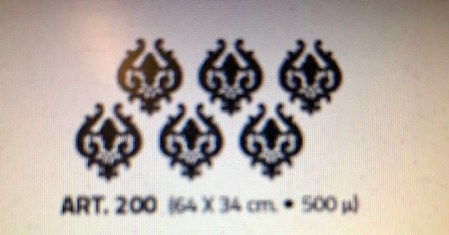 valpaint stuc design stencil 200