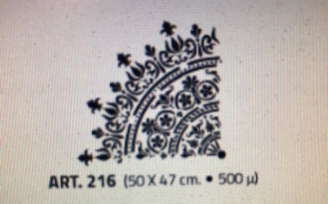 valpaint stuc design stencil 216